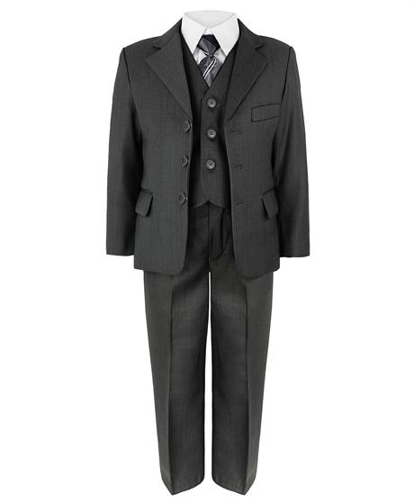 Šedý společenský oblek, půjčovné, 7-8 let, 122