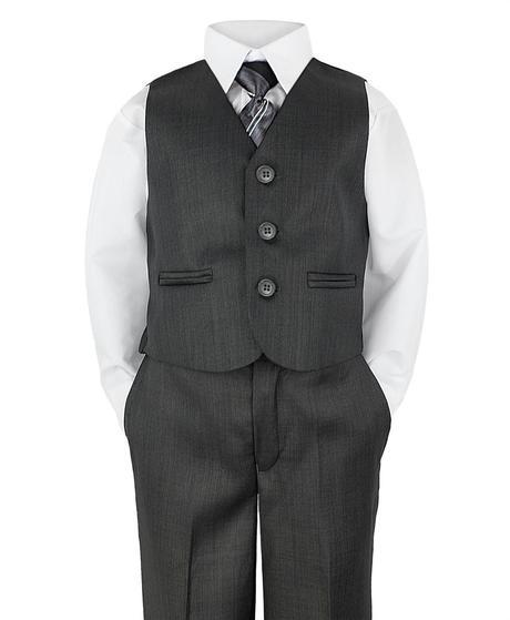 Šedý společenský oblek, půjčovné, 9-10 let, 146