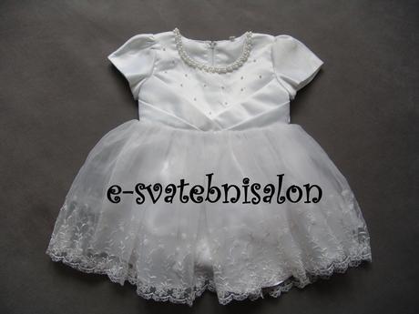 SKLADEM - bílé šaty na vítání občánků, focení, sva, 68