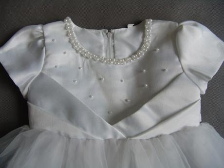 SKLADEM - bílé šaty na vítání občánků, focení, sva, 92