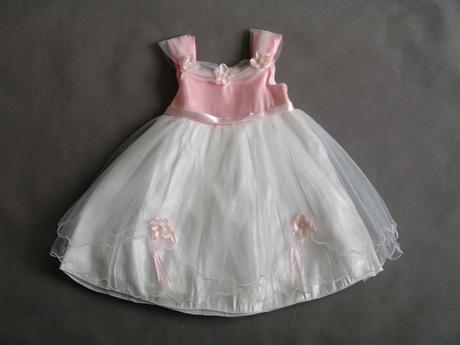 SKLADEM - bílo-růžové šaty, 1-4 roky, 104