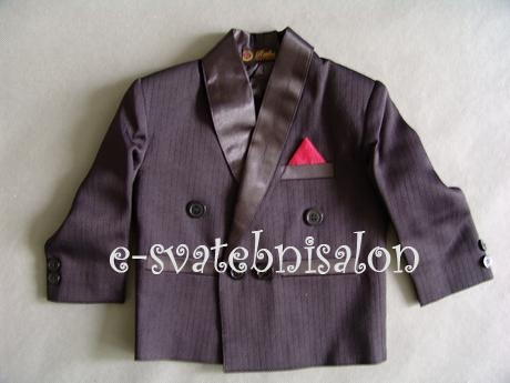 SKLADEM - černý oblek k zapůjčení, 68