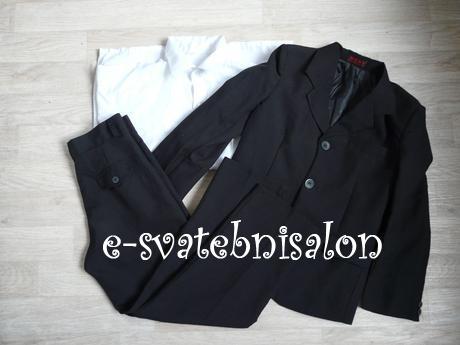 SKLADEM - černý oblek k zapůjčení, 98