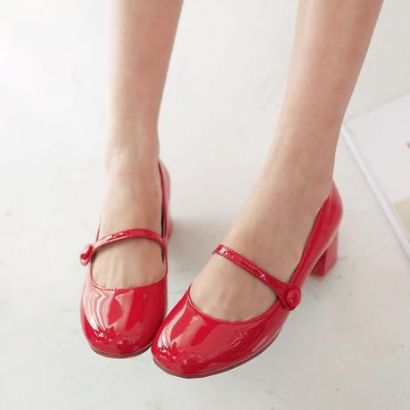 SKLADEM - červené retro lodičky - 24,5cm, 39