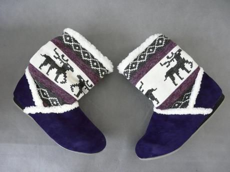SKLADEM - fialové kozačky, 37