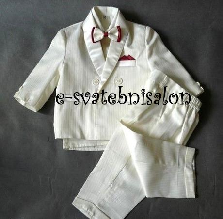 SKLADEM - ivory oblek k zapůjčení, 86