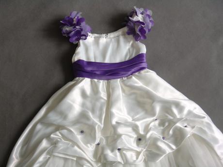 SKLADEM - ivory šaty, 6-12 let, 116