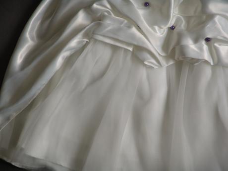 SKLADEM - ivory šaty, 6-12 let, 122