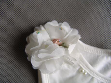 SKLADEM - ivory šaty pro družičky, 128
