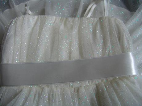 SKLADEM - ivory šaty s kruhovou spodnicí, 1-2 roky, 92