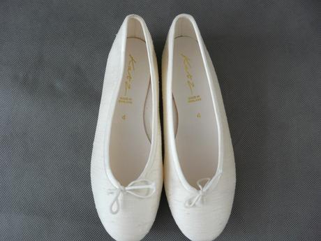 SKLADEM - ivory svatební baleríny, 37