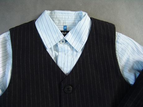 SKLADEM - k zapůjčení černý oblek,12-18,18,3-4,5-6, 110