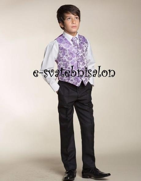 SKLADEM - k zapůjčení fialový oblek 12-18m, 9 a 12, 80