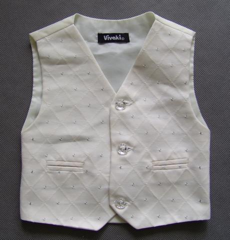 SKLADEM - k zapůjčení ivory oblek, 0-3,9-12, 5 a 6, 110