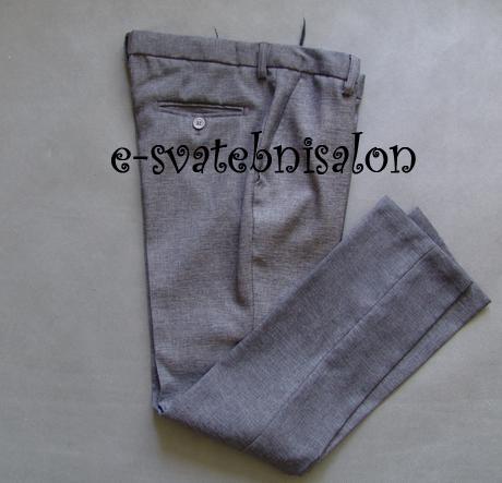 SKLADEM - k zapůjčení ivory/šedý oblek 5-14 let, 158