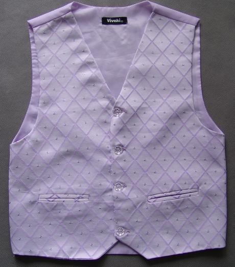 SKLADEM - k zapůjčení lilla oblek, 12m-8let, 104