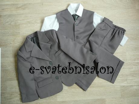SKLADEM - k zapůjčení šedý oblek se sakem, 1 a 4, 110