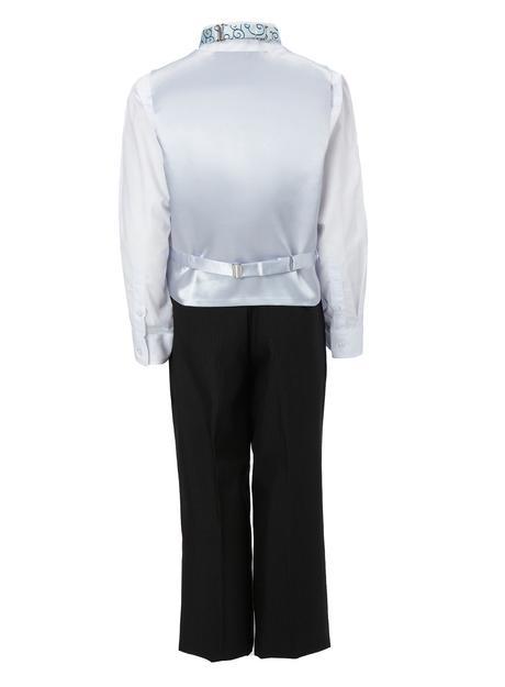 SKLADEM - modro-stříbrný oblek, 12-18, 2 roky, 92