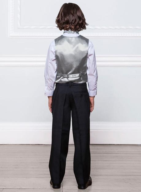 SKLADEM - modro-stříbrný oblek, 12-18, 2 roky, 98
