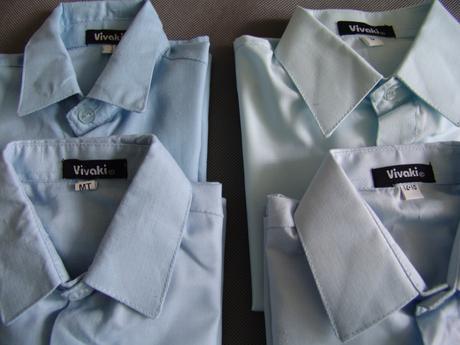 SKLADEM - modrý/černý oblek k zapůjčení, 104