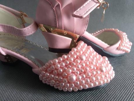 SKLADEM - perličkové dětské lodičky, 26