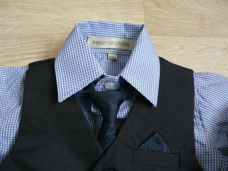 Skladem - půjčovné na tmavě modrý oblek 6-12 měsíc, 68