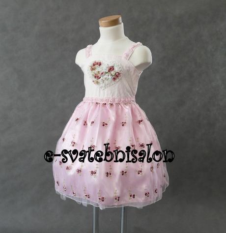 SKLADEM - růžové šaty - 3-5 let, 104