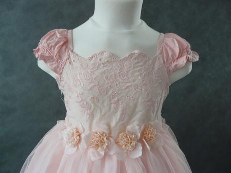 SKLADEM - růžové šaty - 3-5 let, 110