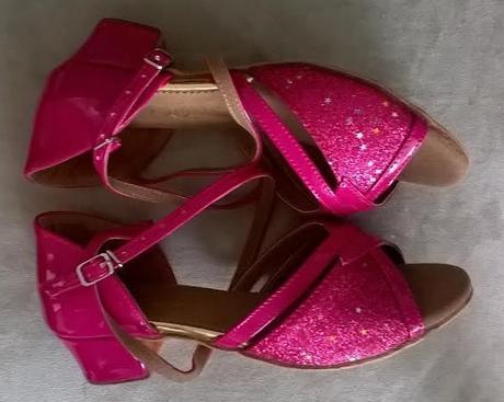 SKLADEM - růžové taneční střevíčky, 34