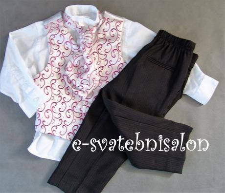 SKLADEM - růžový oblek k zapůjčení, 2 roky, 98