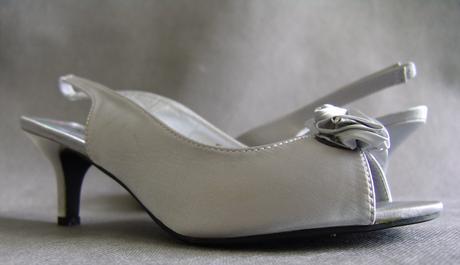 SKLADEM - stříbrné lodičky + kabelka, 40