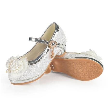 SKLADEM - stříbrné svatební lodičky na podpatku, 29