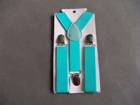 SKLADEM - tyrkysový, MINT, motýlek, kravata, šle, ,