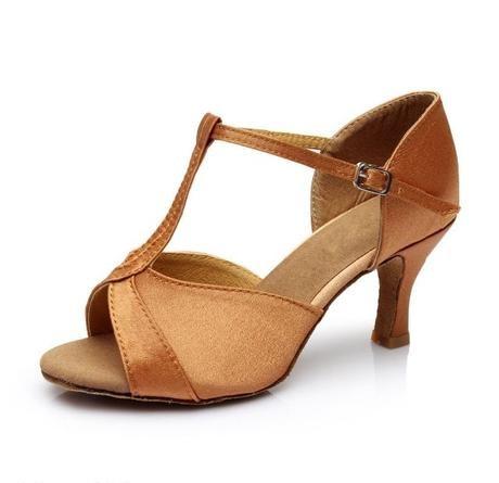 SKLADEM - zlaté taneční sandálky, 38