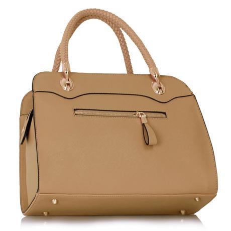 Společenská kabelka, Vánoční dárek, béžová,