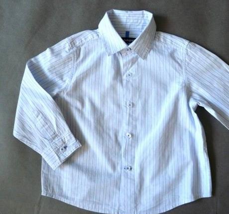 Společenský, svatební oblek, černý, proužky, 98