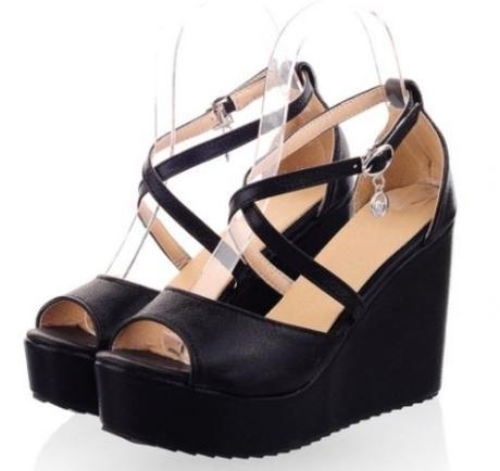 Stříbrné plesové boty na klínku, 35-42, 40