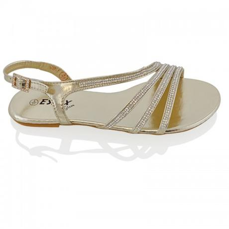 Stříbrné plesové, plážové sandálky, 36-41, 36