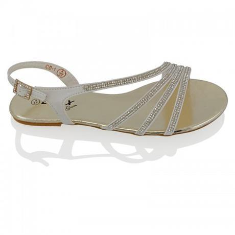 Stříbrné plesové, plážové sandálky, 36-41, 38