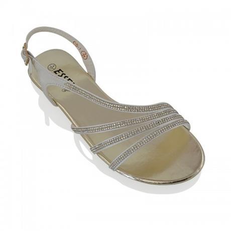 Stříbrné plesové, plážové sandálky, 36-41, 40
