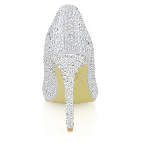 Stříbrné plesové společenské sandálky, 36-41, 37