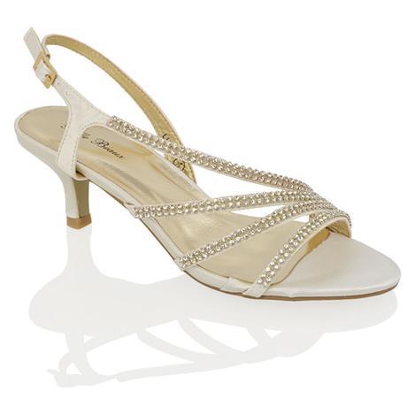 Stříbrné plesové společenské sandálky, 36-41, 39