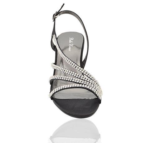 Stříbrné plesové společenské sandálky, 36-41, 41