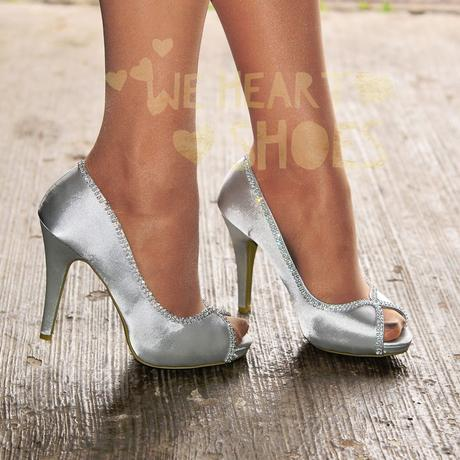 Stříbrné plesové, svatební lodičky, 36