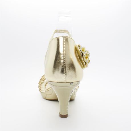 Stříbrné plesové, svatební sandálky, nízký podpate, 36