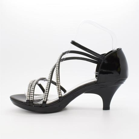 Stříbrné plesové, svatební sandálky, nízký podpate, 38