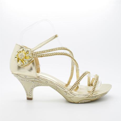 Stříbrné plesové, svatební sandálky, nízký podpate, 37