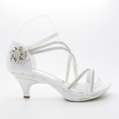 Stříbrné plesové, svatební sandálky, nízký podpate, 41