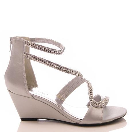 Stříbrné sandálky, klínek, 36-41, 36