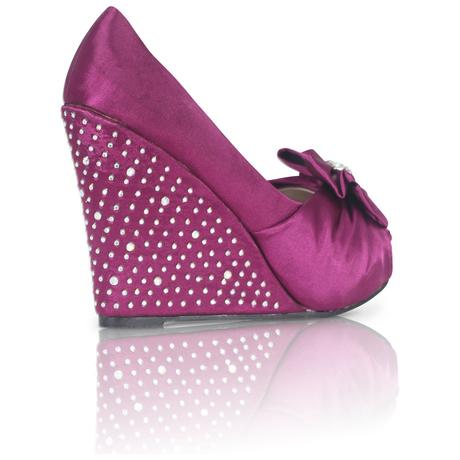 Stříbrné saténové boty, vysoký klínek, 36-41, 38